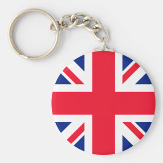 Union Jack Roundel Basic Round Button Key Ring