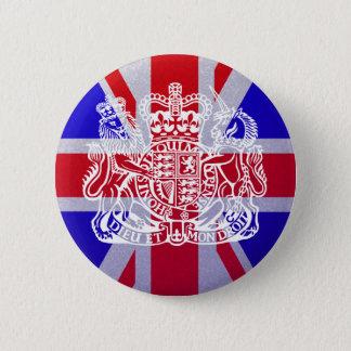Union Jack & Seal 6 Cm Round Badge