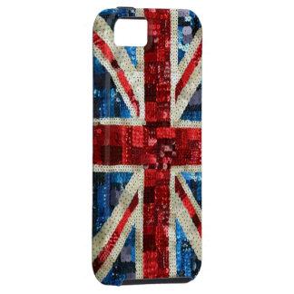 Union Jack sequin bling UK English flag iPhone 5 iPhone 5 Case