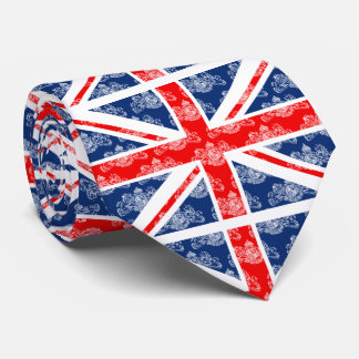 Union Jack & Small White Coat of Arms British Tie