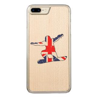 Union Jack SNOWBOARDER (blk) Carved iPhone 8 Plus/7 Plus Case