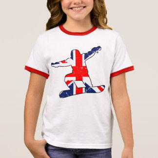 Union Jack SNOWBOARDER (blk) Ringer T-Shirt