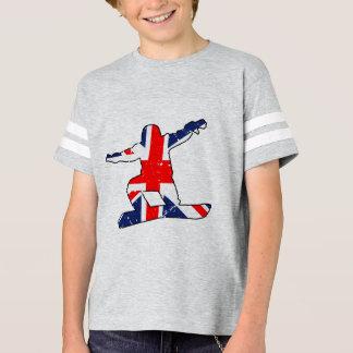 Union Jack SNOWBOARDER (blk) T-Shirt