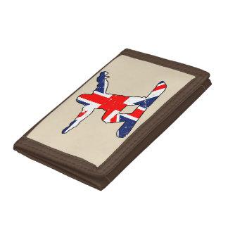Union Jack SNOWBOARDER (blk) Tri-fold Wallets