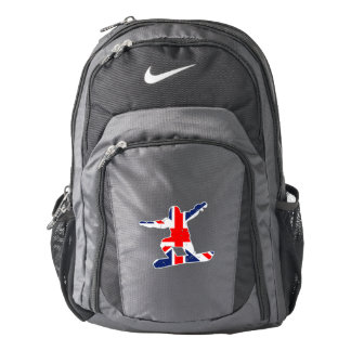 Union Jack SNOWBOARDER (wht) Backpack