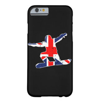Union Jack SNOWBOARDER (wht) Barely There iPhone 6 Case
