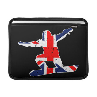 Union Jack SNOWBOARDER (wht) MacBook Sleeve