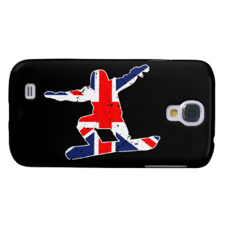 Union Jack SNOWBOARDER (wht) Samsung Galaxy S4 Cases