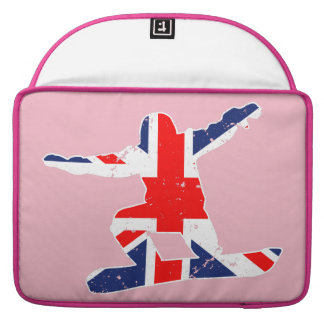Union Jack SNOWBOARDER (wht) Sleeve For MacBook Pro