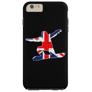 Union Jack SNOWBOARDER (wht) Tough iPhone 6 Plus Case