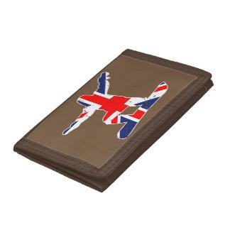 Union Jack SNOWBOARDER (wht) Tri-fold Wallet