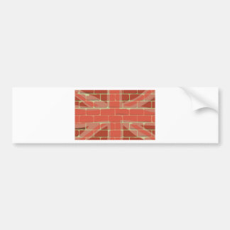 Union Jack Sprayed on a Wall Bumper Sticker