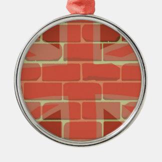 Union Jack Sprayed on a Wall Metal Ornament