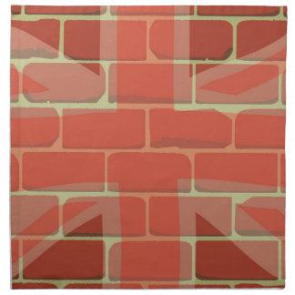 Union Jack Sprayed on a Wall Napkin