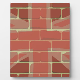 Union Jack Sprayed on a Wall Plaque