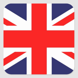 Union Jack Square Sticker