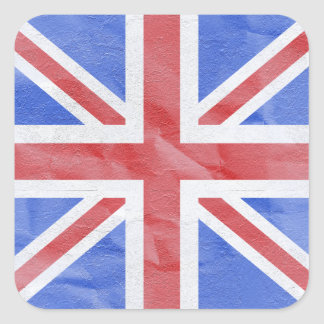Union Jack Square Sticker