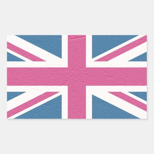 Union Jack Rectangle Stickers