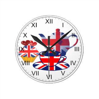 Union Jack Tea-time Wall Clock
