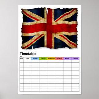 Union-Jack / Timetable Poster