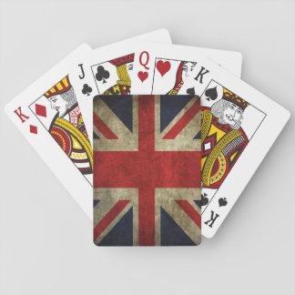 Union Jack UK British Flag Faded Antique Playing Cards