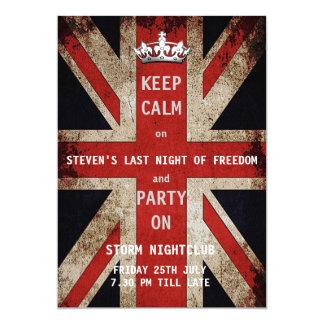 Union Jack UK Flag Bachelor Party Card