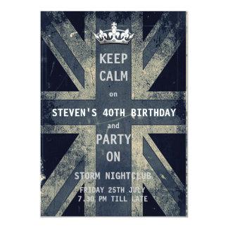 Union Jack UK Flag Birthday Party Invites