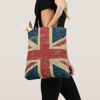 Union Jack UK Flag Vintage Distressed Tote Bag