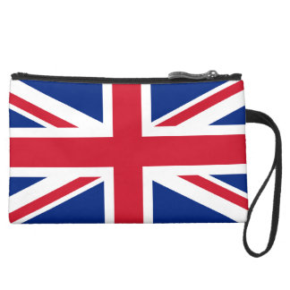 Union Jack UK Flag Wristlet Purse