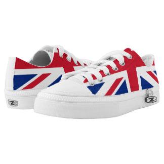 Union Jack UK Flag Zipz Low Top Shoe Printed Shoes