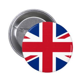 Union Jack United Kingdom 6 Cm Round Badge