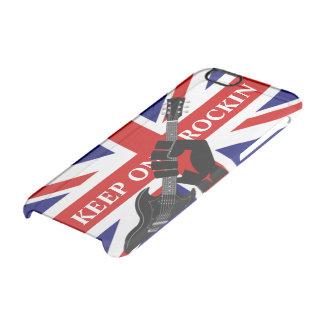 Union Jack United Kingdom Flag  Keep on Rockin Clear iPhone 6/6S Case