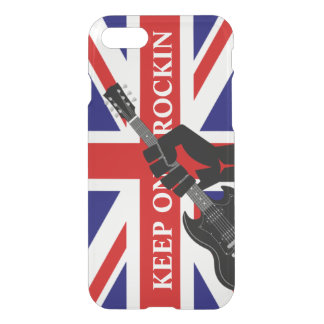 Union Jack United Kingdom Flag  Keep on Rockin iPhone 7 Case