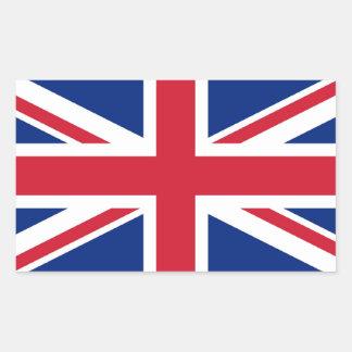 Union Jack: United Kingdom flag Rectangular Sticker