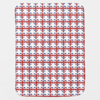 Union Jack United Kingdom heart baby blanket