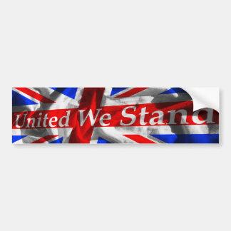 Union Jack 'United We Stand' Bumper Sticker