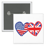 Union Jack/USA Buttons
