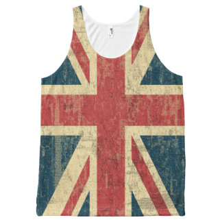 Union Jack Vintage Distressed All-Over Print Tank Top