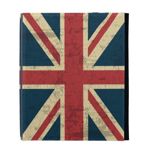 Union Jack Vintage Distressed iPad Folio Case