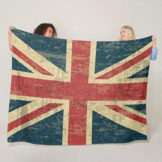 Union Jack Vintage Distressed Fleece Blanket