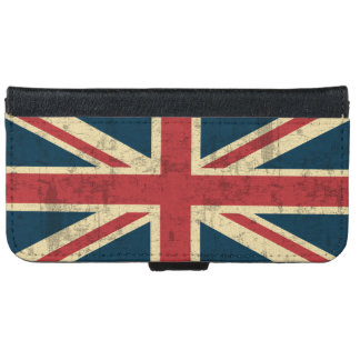 Union Jack Vintage Distressed iPhone 6 Wallet Case