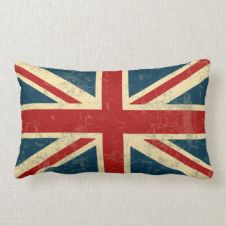 Union Jack Vintage Faded Lumbar Pillow