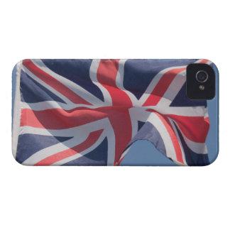 Union Jack waving flag iPhone 4 Cases