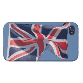 Union Jack waving flag iPhone 4 Covers