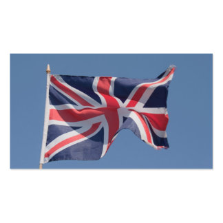 Union Jack waving flag Pack Of Standard Business Cards