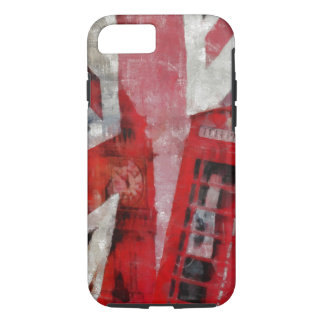 Union Jack with phone booth iPhone case