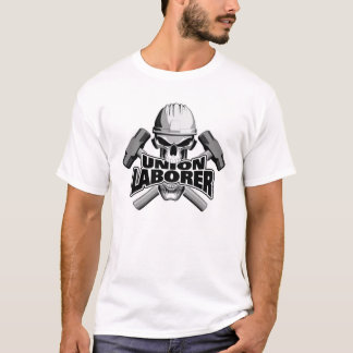 Union Laborer: Skull and Sledge Hammers T-Shirt