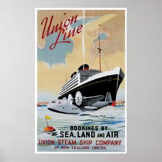 Union Line Steamship Ocean Liner Poster