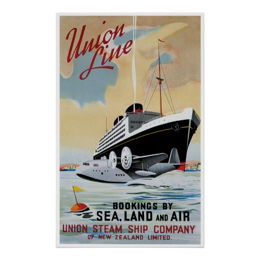 Union Line Steamship Ocean Liner Posters