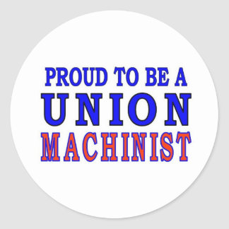 UNION MACHINIST CLASSIC ROUND STICKER